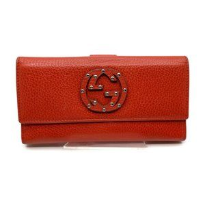 authentic Gucci Long Wallet pretty Reds Leather